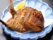 鯛のかぶと揚げ
